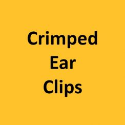 Crimped Ear Clips